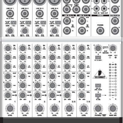 Behringer MX802A top